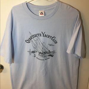 Vintage Yacht Club T-Shirt NWOT Light Blue